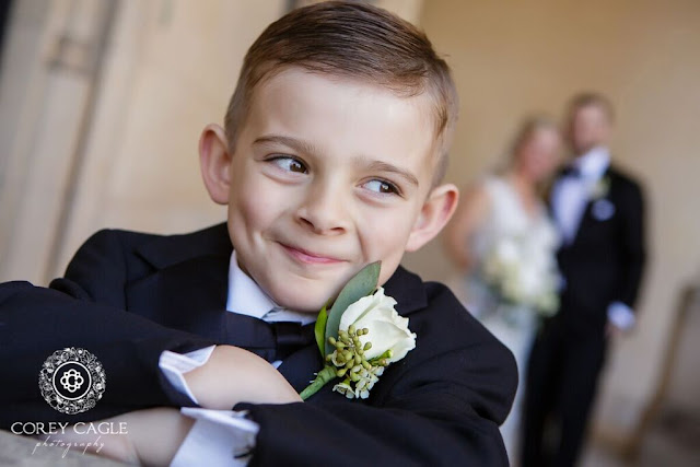 Adorable Ring Bearer |Corey Cagle Photography