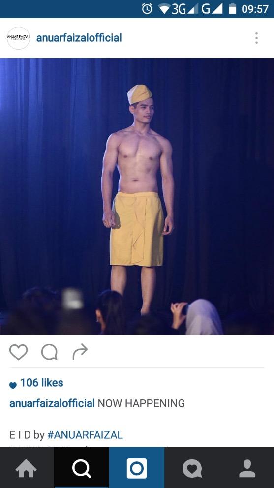 Baju Raya Moden 'Shirtless' 2016 Rekaan Anuar Faizal Dikecam