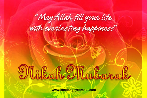 Nikah Mubarak Warm Wishes Marriage Couple Bride Groom