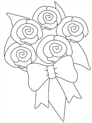 Gambar Mewarnai Bunga - 12
