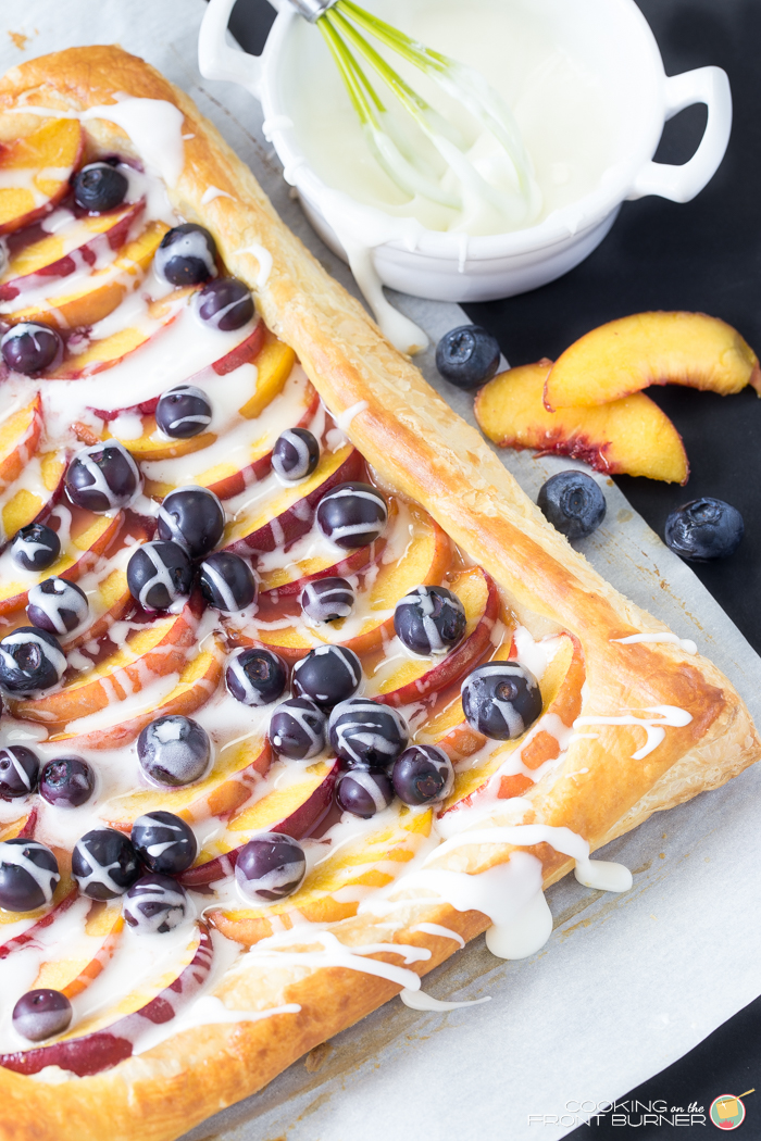 Fresh Peach and Blueberry Tart
