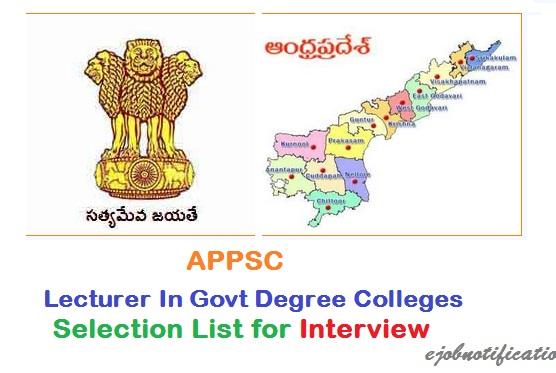 Certificate Verification for APPSC lecturer jobs Selection list @psc ...