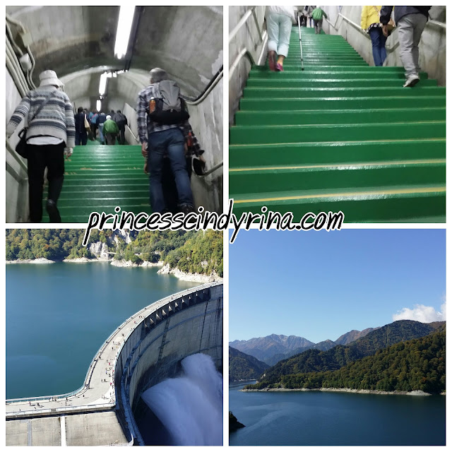 stairs and dam
