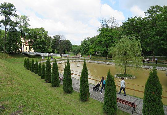 Park w Rymanowie-Zdroju.