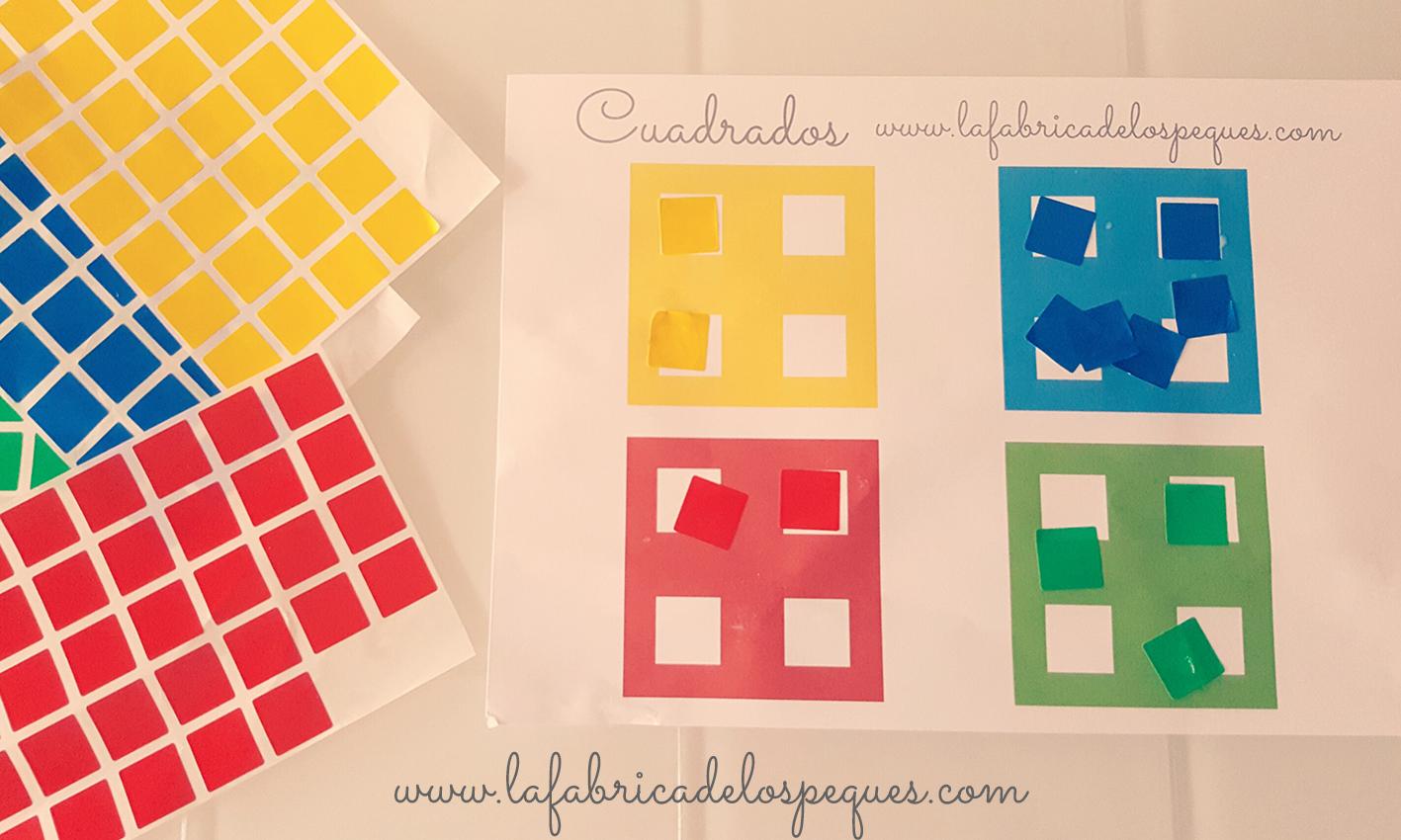 Imprimibles gratis para actividades con gomets   La fábrica de los ...