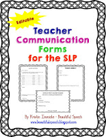 https://www.teacherspayteachers.com/Product/Teacher-Communication-Forms-for-the-SLP-Editable-1966347