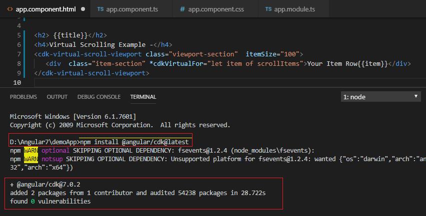 Angular 7 Virtual Scrolling - ScrollingModule | Drag & Drop