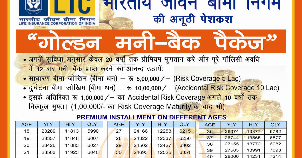 Best Money Back LIC Policy Plan Details