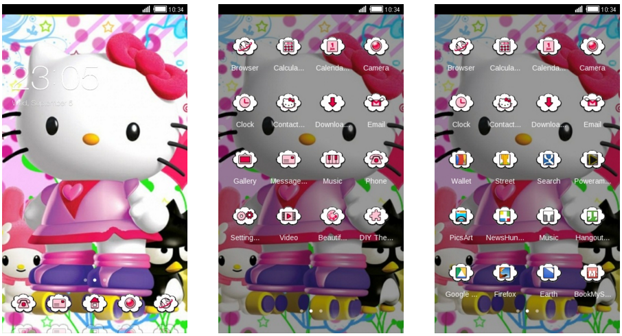 download tema whatsapp hello kitty pink lucu gratis foto