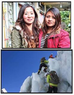 Two Darjeeling Girls Trishala Gurung and Sulaxchana Tamang Summits Everest