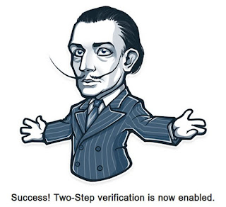 Gambar yang muncul pada web browser setelah kita melakukan konfirmasi 2 step verification