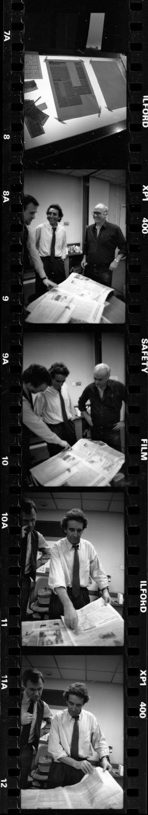 Lunas caf 1988 david hillman redesigns the guardian paul luna a newspaper for the nineties blueprint 46 april 1988 5456 malvernweather Images