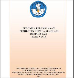 Pedoman Pelaksanaan Kepala Sekolah Berprestasi 2018