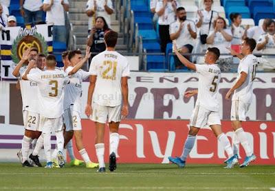 Primera victoria liguera. Real Madrid Castilla 3-1 Marino de Luanco