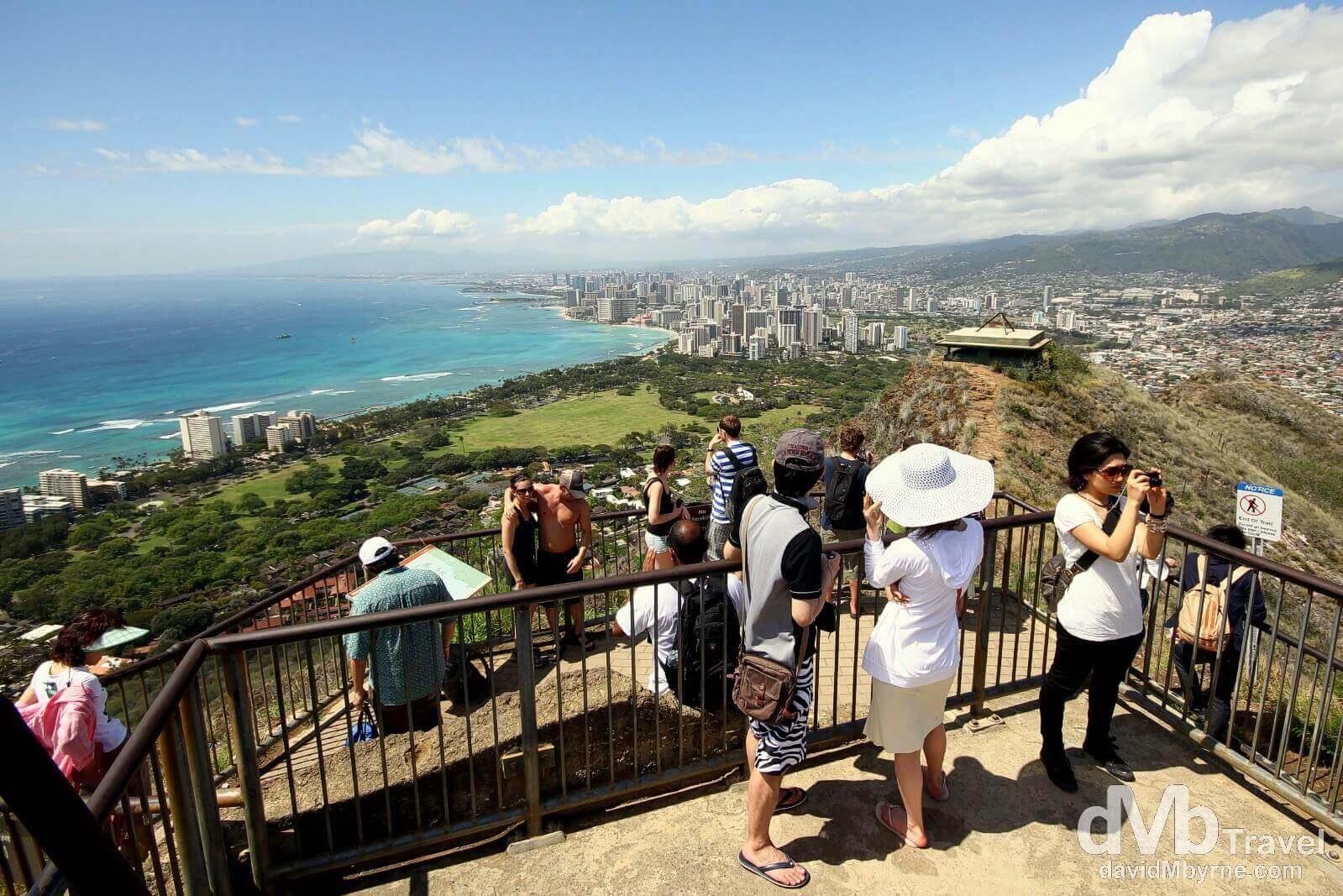 Top of Diamond Head, Oahu, Hawaii.  Best Honolulu-Oahu Attractions - Things to Do in Honolulu-Oahu