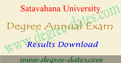 SU degree results 2018 Satavahana university ug result date