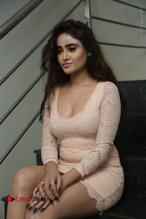 Telugu Actress Model Sony Charishta Stills in Short Dress at Rapture 2017 Grand Logo Launch  0097.JPG