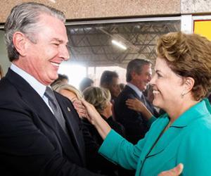 Dilma recebeu Fernando Collor em conversa reservada no Alvorada