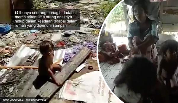 Ibu penagih biarkan lima anaknya hidup dalam timbunan sampah