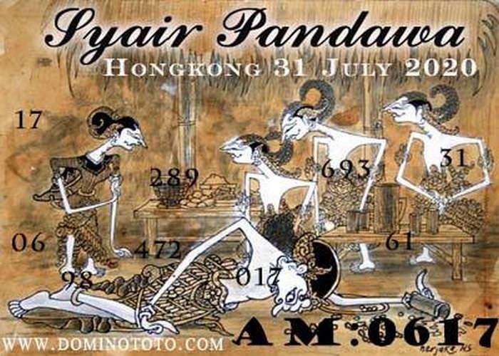 Kode syair Hongkong Jumat 31 Juli 2020 263