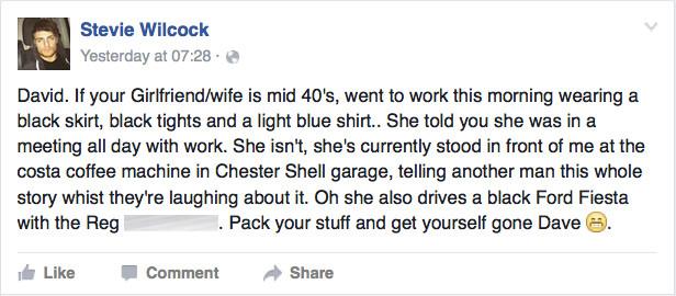 Escucha conversación de mujer infiel y la destapa en Facebook
