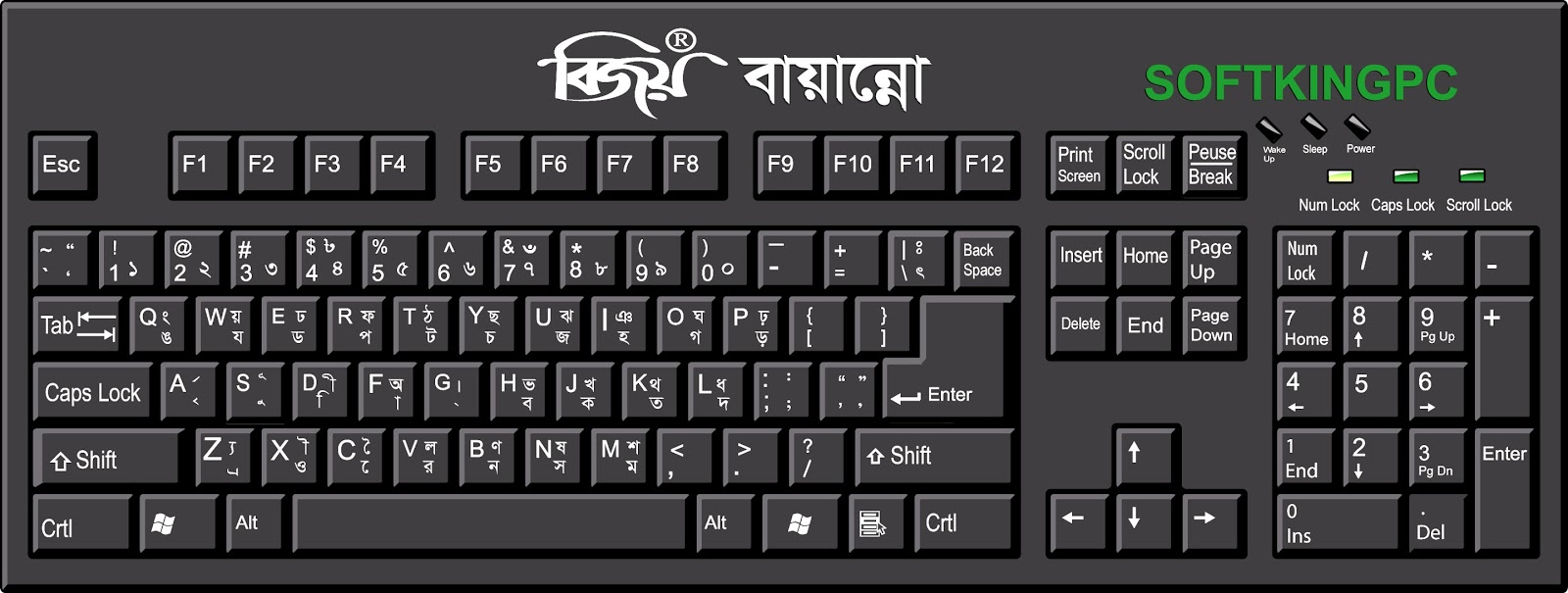 Image result for Bengali Alphabet Type on Computer
