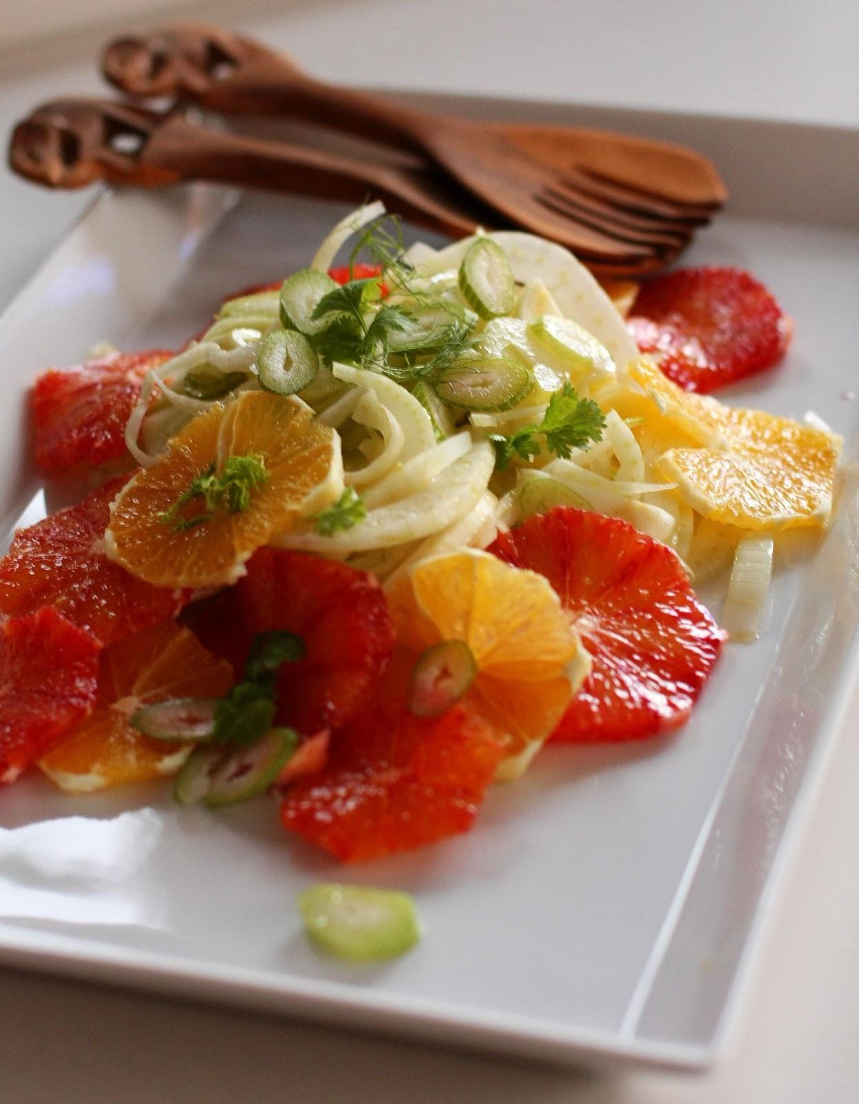 fenkoli-sitrussalaatti veriappelsiini appelsiini fenkoli salaatti