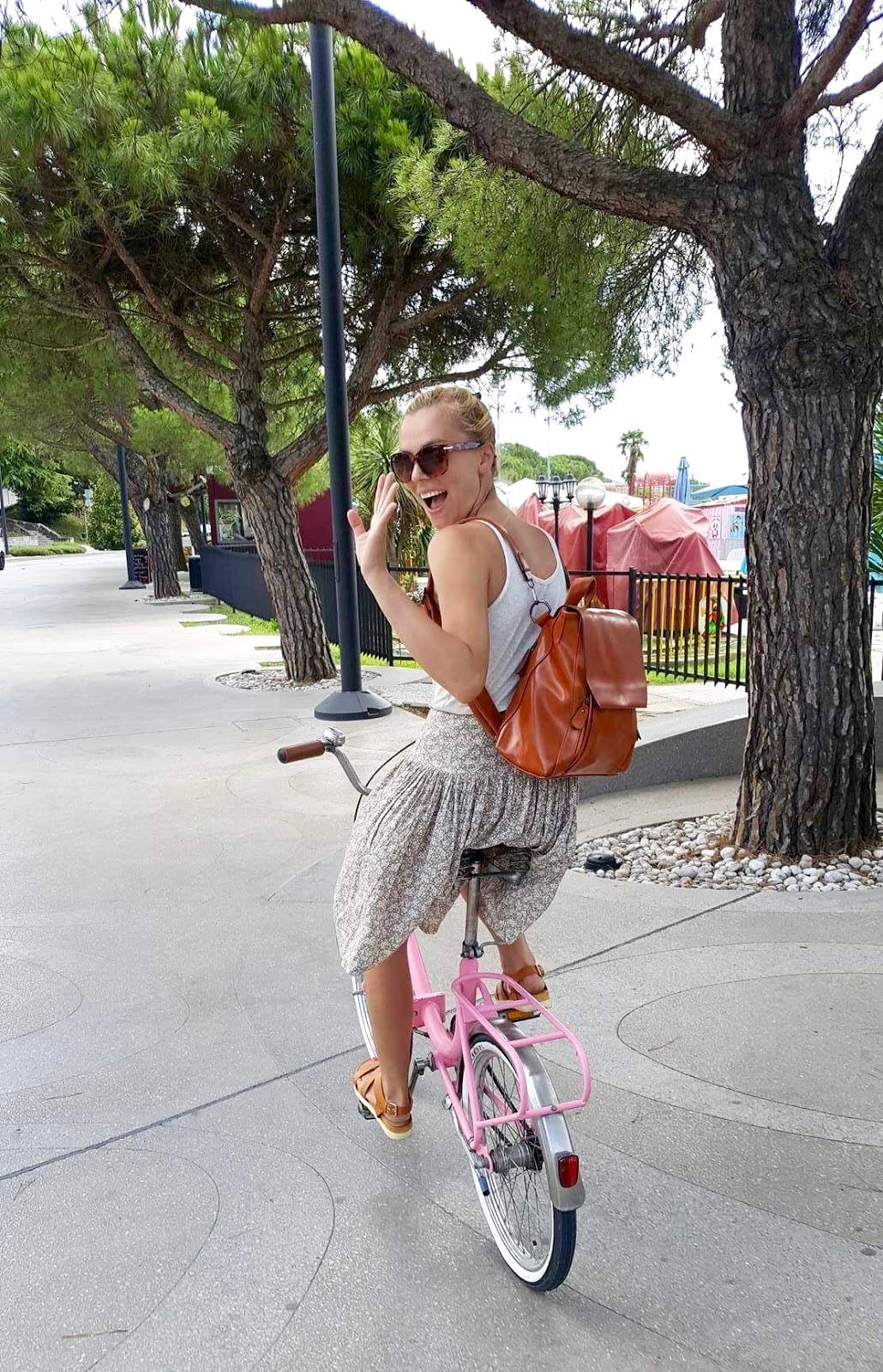 retro bike, pink, folding