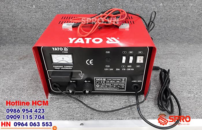 Giá máy sạc điện bình ắc quy xe máy YATO YT-8305 bao nhiêu