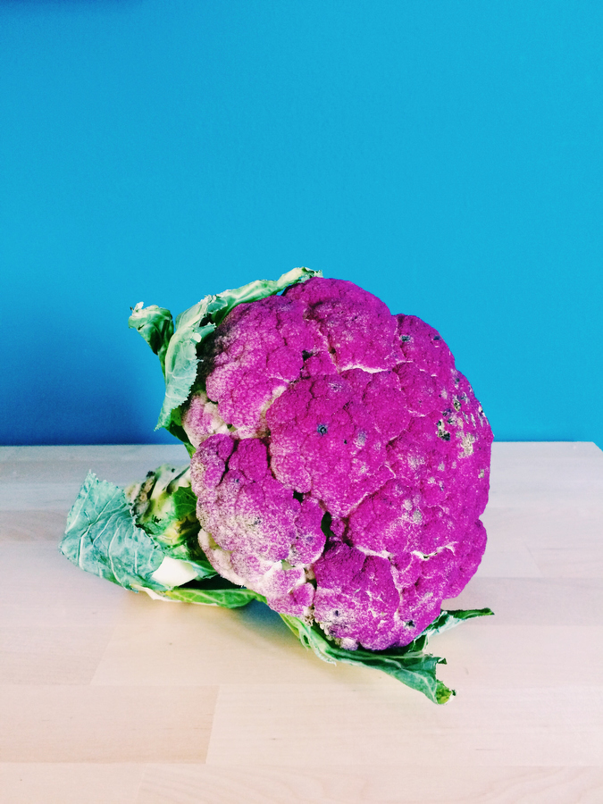 A purple cauliflower, photographer - Katie Currid of Freckle & Fair