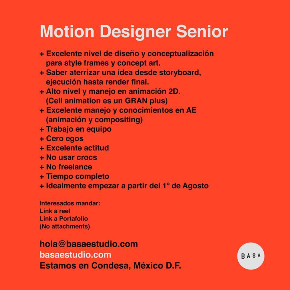 Junior Motion Graphics Designer