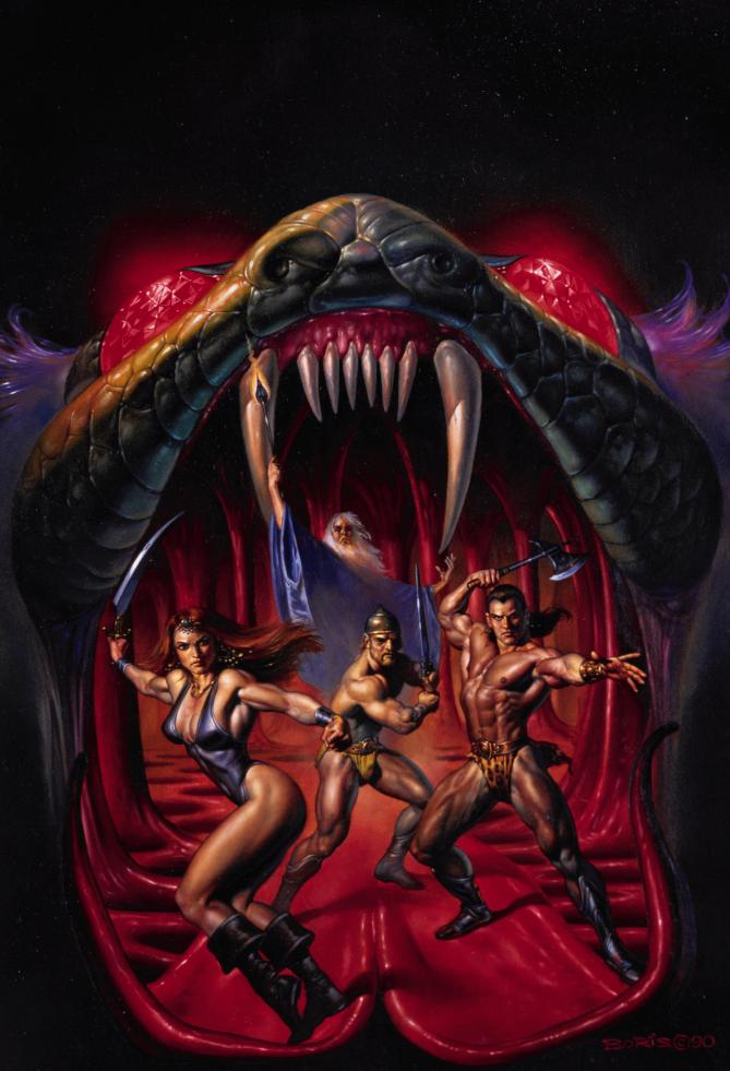Serpentes e Espadas - Obras de Boris Vallejo ~ O melhor no campo da fantasia - Peruano