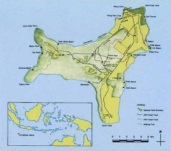 Mapas da Ilha Christmas | Austrália