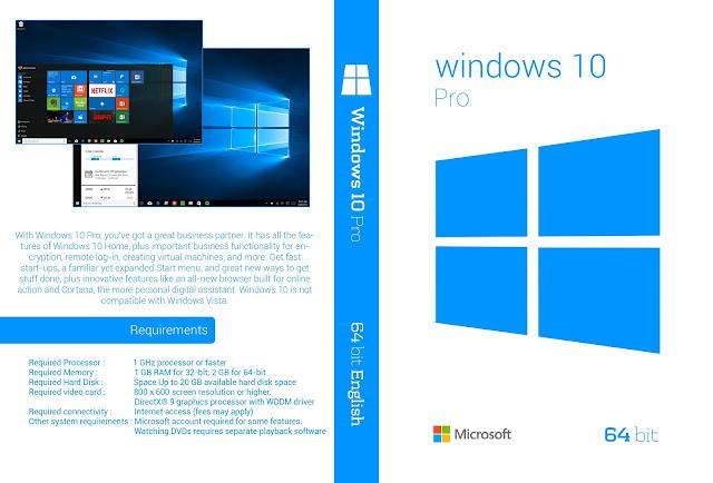 Windows 10 64 bit DVD Cover