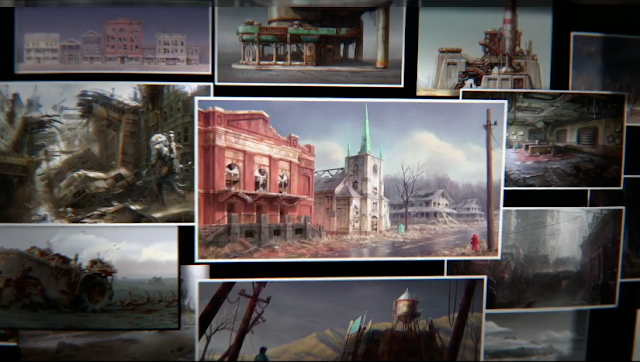 Fallout 4 environments concept art Bethesda E3 2015 conference