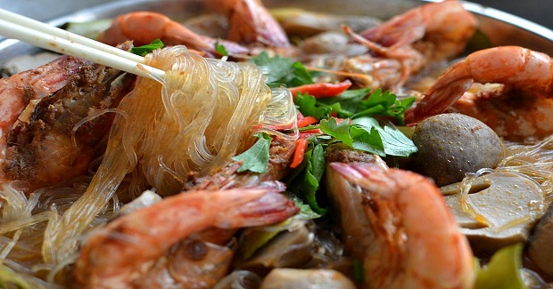 Tom Yum-Flavored Steamed Prawns  Recipe