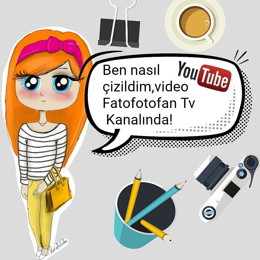 şirin Kız çizimi Fatofotofan Tv Fatofan