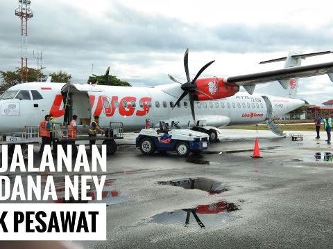 Perjalanan Perdana Ney Naik Pesawat