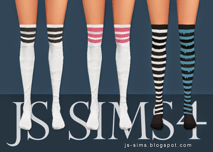 baea016c6bfcd8 My Sims 4 Blog: Sporty Knee High Socks By JS Sims 4