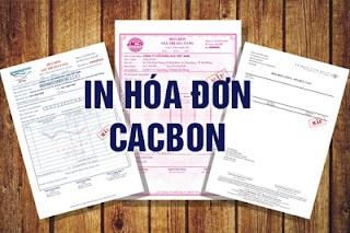 In hóa đơn Cacbon - Hóa đơn GTGT - Hóa đơn VAT tại HN