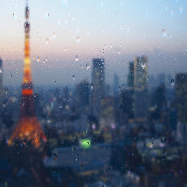 Tokyo Rain Drops Wallpaper Engine