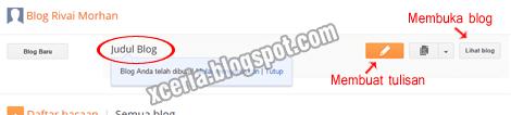 Dasbor Blogspot