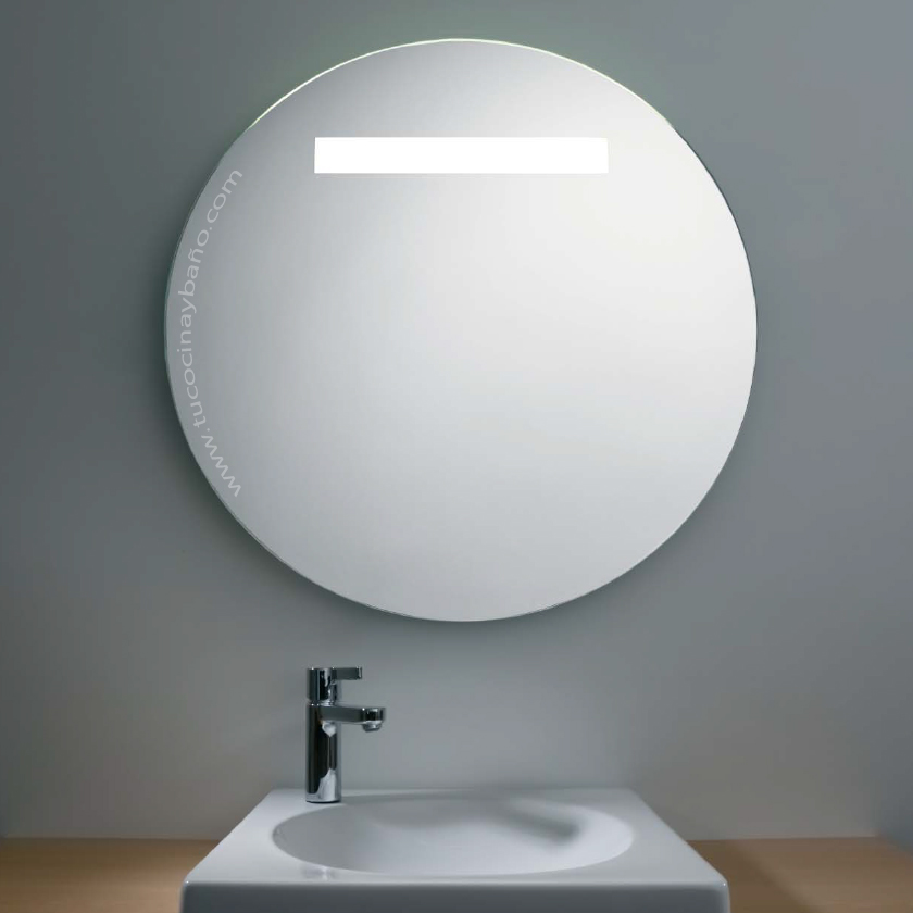 Espejo ba o redondo luz pl l tu cocina y ba o - Espejo redondo bano ...