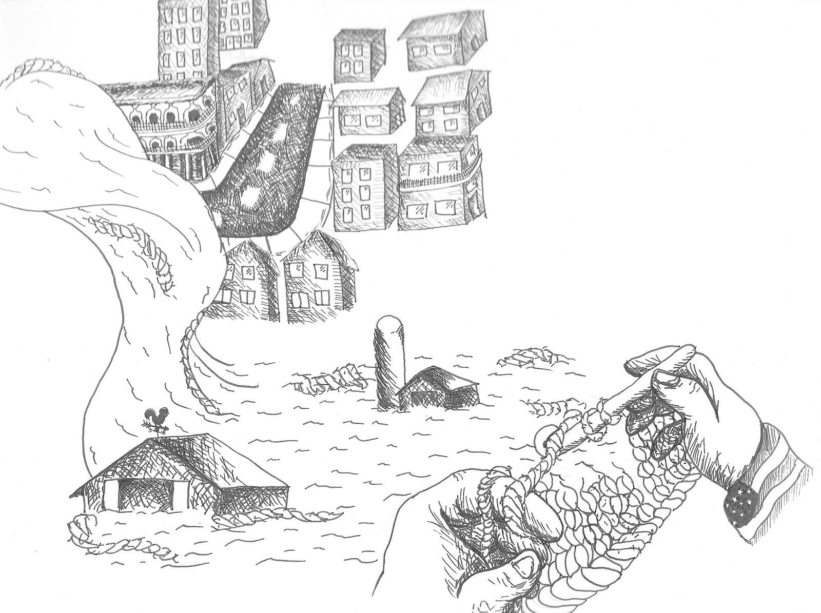 Lisa Bosco S Art Blog Flood Illustration
