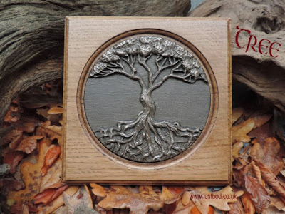 Celtic Tree Of Life Wall Plaque Bronze and Oak | Justbod