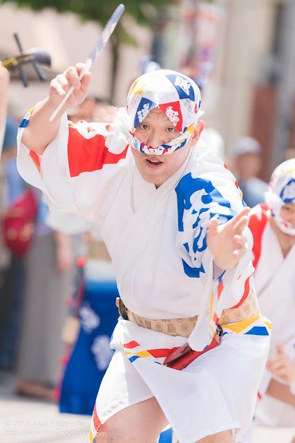 飛鳥連、マロニエ祭り、男踊りの写真 その3