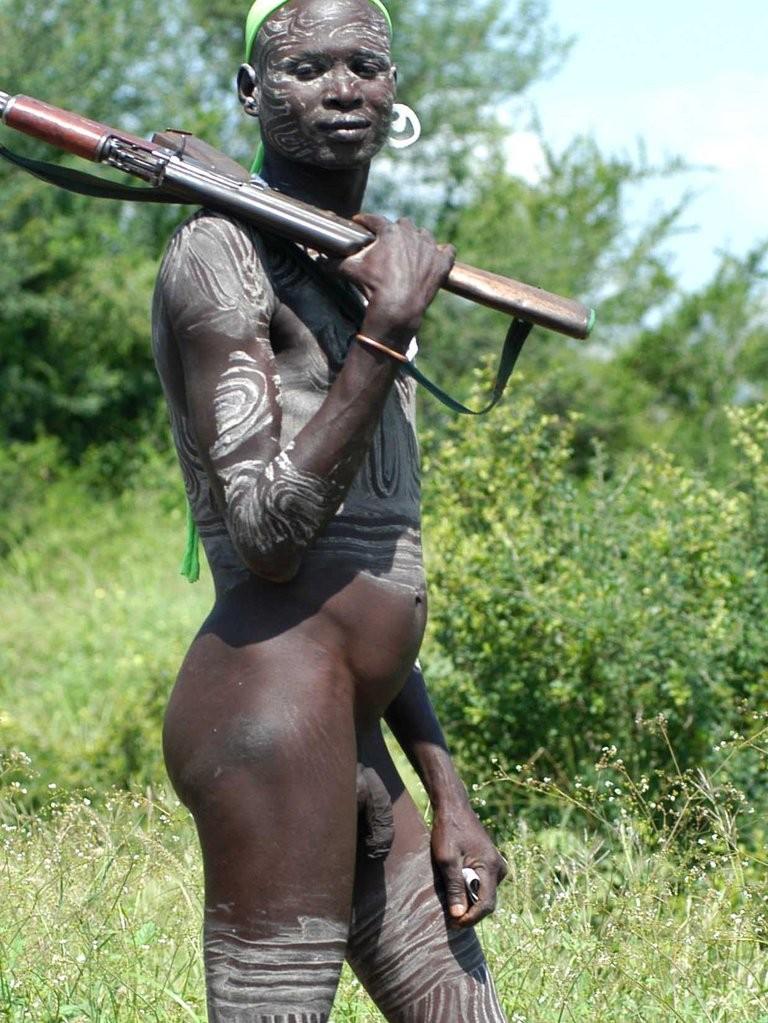 Naked gay african man