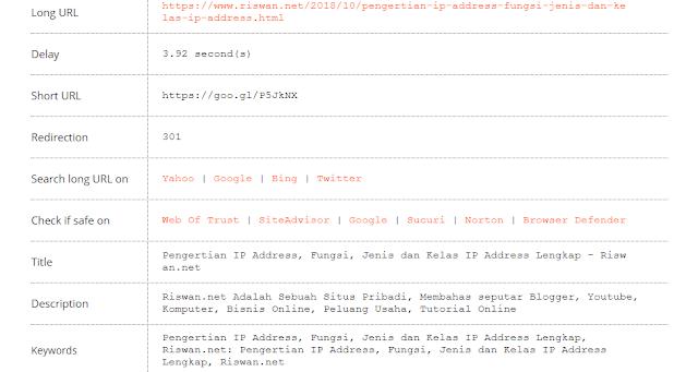 Cara Melihat Link Asli dari URL Yang Dipendekkan