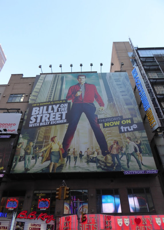 Giant Billy on the Street season 4 billboard NYC
