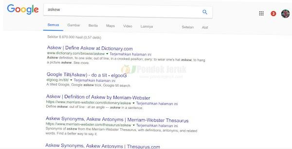 Trik Unik Google